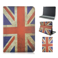 For iPad Air 2 Retro Flag UK US flag colorful painted tablet PC case for iPad cover case 2 sides open for ipad leather cover(China (Mainland))