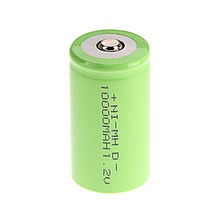 Green Color 2016 New Arrival ! 2 PCS D Size 10000 mAh 1.2 V  NI-MH Rechargeable Battery(China (Mainland))