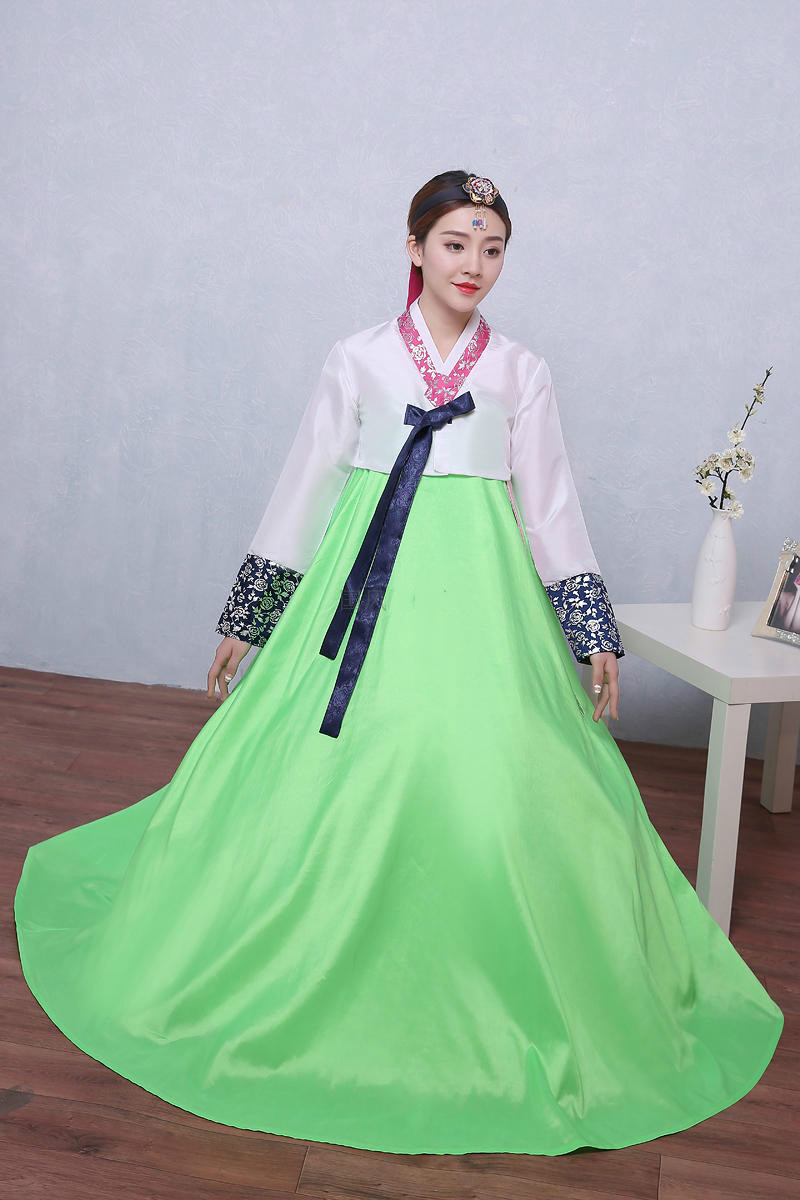 Woman Elegant Korean Traditional Costume Minority Dance Performance Clothing Female Hanbok Court Pincess Dress Lady Cosplay 89