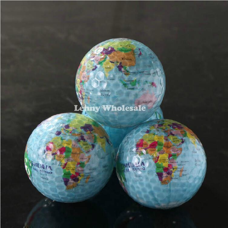 New globle map,dollar and Pound three designs golf balls,special design golf ball 4pcs/lot free shipping(China (Mainland))