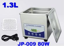 Supply 110/220V 80W digital ultrasonic cleaner JP-009 1.3L contact lens , razors jewellery cleaning machine(China (Mainland))