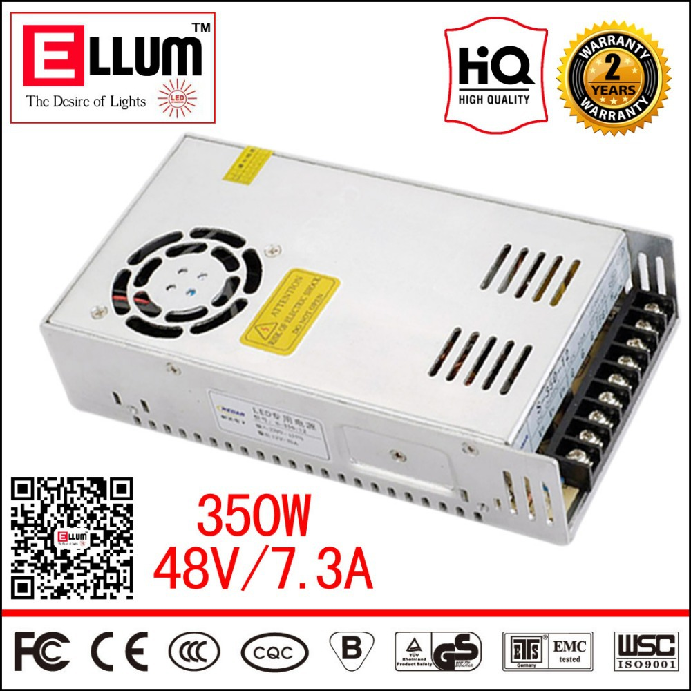 S-350-48 AC / DC LED Driver 48V Supply CE ROHS Approval Constant Voltage Output Power Supply 48VDC 350W