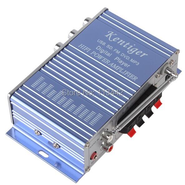 LLWHY502B mini Car Amplifier MP3 FM/USB Player 20W+20W Digital display power amplifier with Remote Control(China (Mainland))