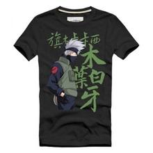 Hatake Kakashi T-Shirt 100% Cotton 2016 New Fashion O-Neck Anime Naruto Printed Tee Shirt Short Sleeve Free Shipping