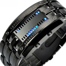Multi function Men's Watch Luxury Stainless Steel Band LED Digital Watch Date Hour Bracelet Sport Watches reloj hombre(China (Mainland))