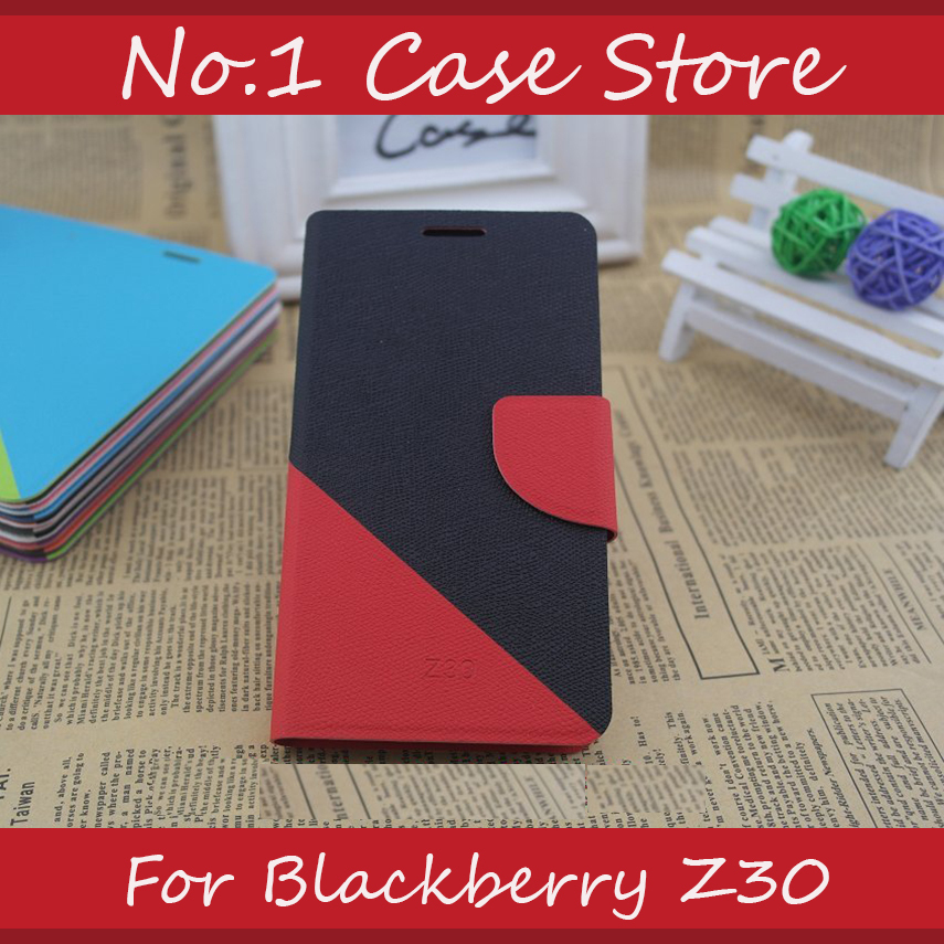 Contrast Color Colorful Flip Leather Case For Blackberry Z30 BB Wallet Inside Card Holder Cell Phone Cover With Stand Bag(China (Mainland))