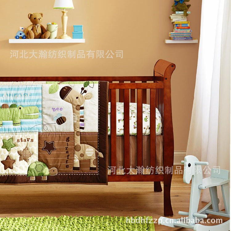 discount 6pcs baby bedding set cot boy crib bedding sets cot crib bedding set include bumper. Black Bedroom Furniture Sets. Home Design Ideas