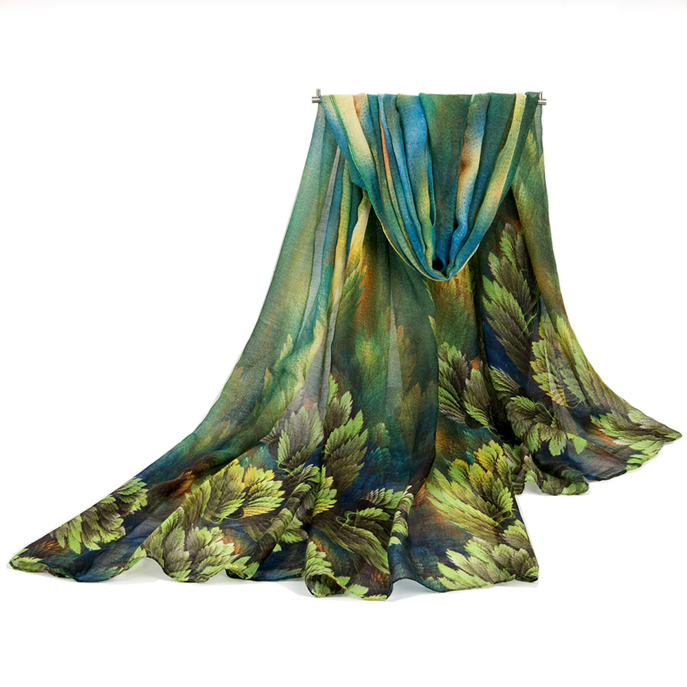 2016 Women Scarf Lady's Scarves Long Shawl Pashmina Leaf Print Cotton Scarf Wrap Autumn Winter Cape Hijab Muffler Femme Stoles(China (Mainland))