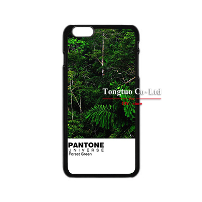 Hot Real Life Pantone orest Green Durable Plastic Print PC Shell Hard phone cases Cover For Apple iPhone 6 luxury cloth skin(China (Mainland))