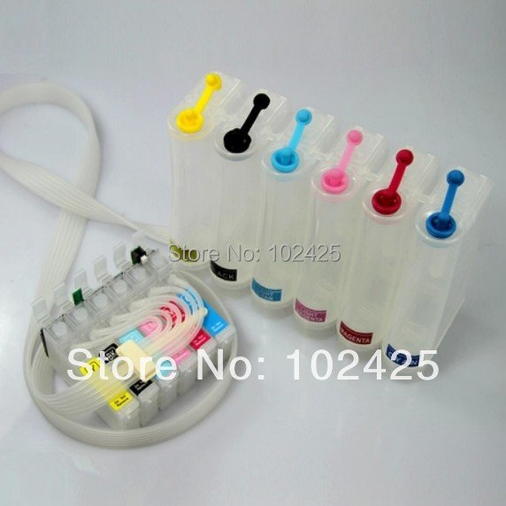 Free shipping CISS for EPSON Stylus RX560/RX585/RX685 R265/R285/R360 P50 For Epson T0801-T0806 continuous ink supply system<br><br>Aliexpress