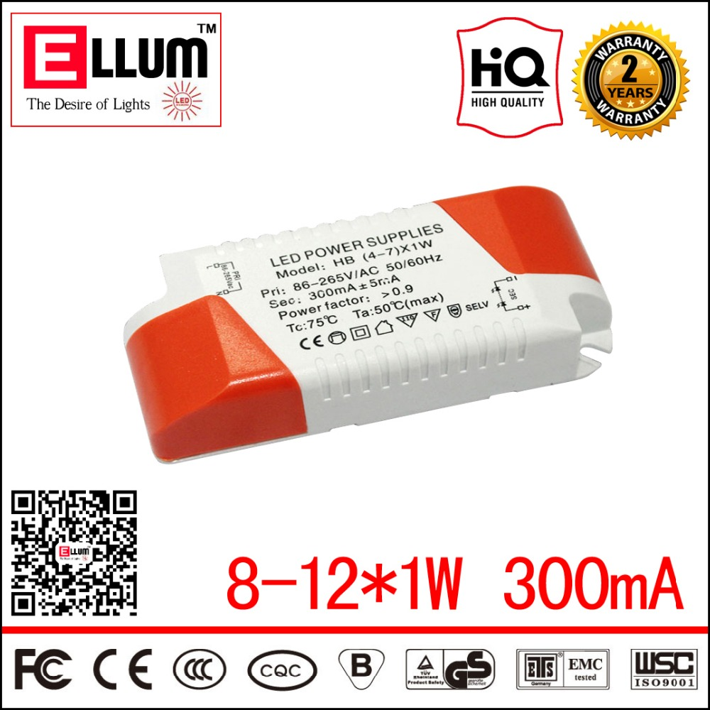 Indoor Used LED Driver Transformer CE ROHS Approval AC DC Constant Current Output LED Power Supply 24-42V DC 300mA 8-12*1W<br><br>Aliexpress