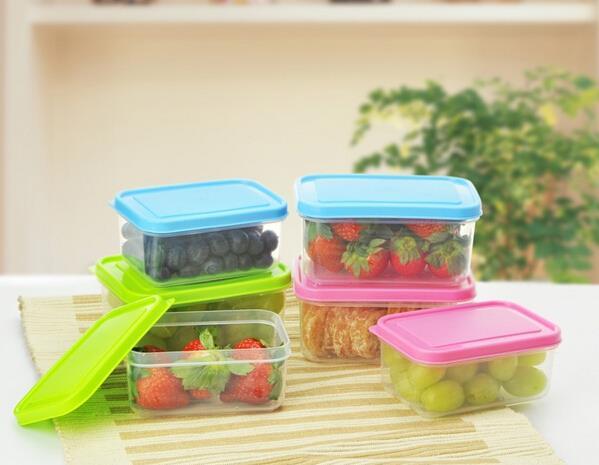 10pcs/lot 300ml Refrigerator crisper food container vegetable fruit freshness airtight box free shipping(China (Mainland))