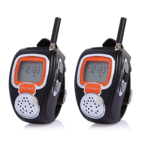 2 Pcs Pair Portable Digital Freetalker Walkie Talkie Two 2-Way Radio Wrist Watch free shipping(China (Mainland))