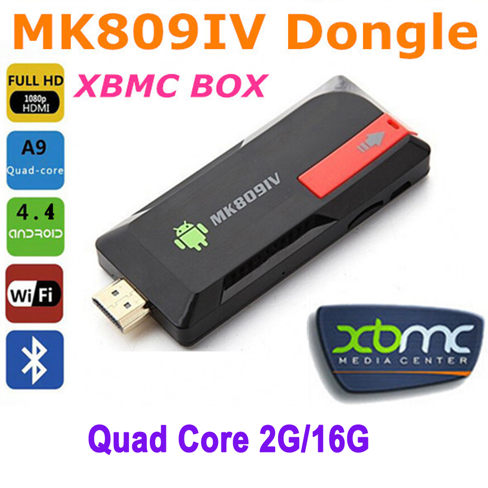 MK809IV Mini PC Android 4.4 TV Stick Dongle Quad Core RK3188T 2G/16G XBMC Bluetooth 4.0 DLNA WiFi android tv dongle airplay(China (Mainland))