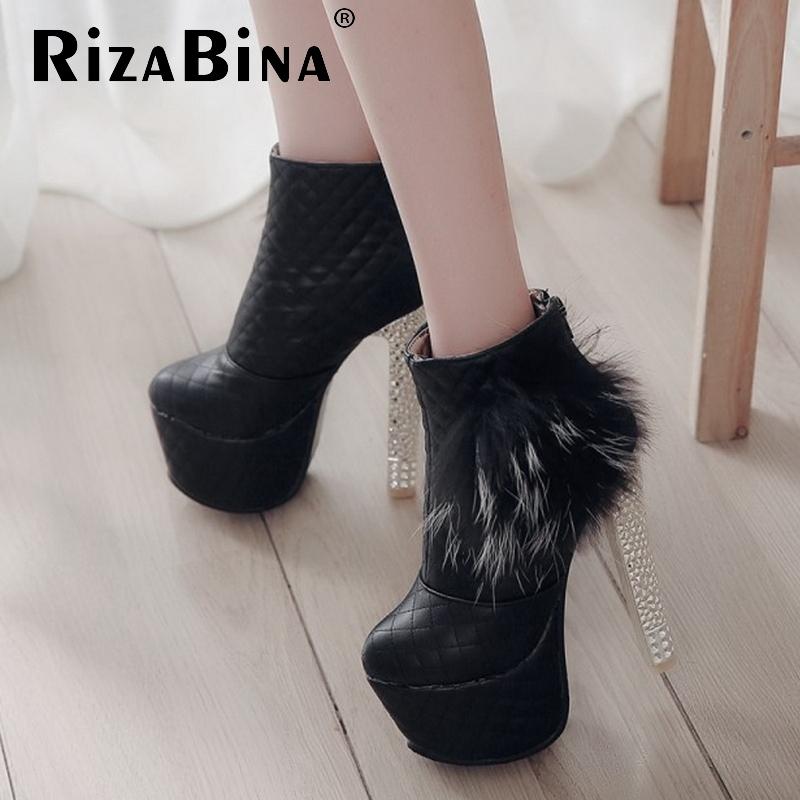 ladies high heel ankle boots women cotton half short botas warm winter boot fashion heels fur footwear shoes P20431 size 33-40<br><br>Aliexpress