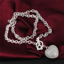 Buy sterling-silver-jewelry 925-sterling-silver necklace statement maxi collier jewelry collares colar bijoux women 925 love free 13 for $4.31 in AliExpress store