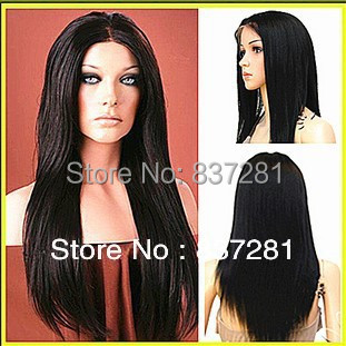 middle parting lace front wig silky straight brazilian human people hair - Flower factory store