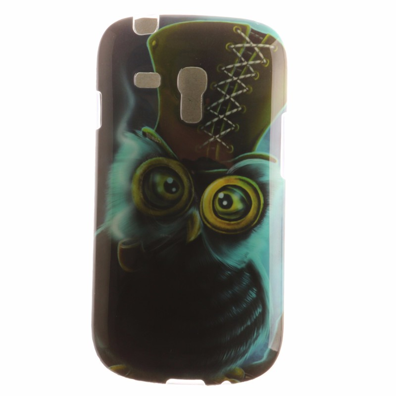 Cute Owl lion Flower Silicon Phone Cover For Samsung galaxy s3 mini i8190 8190 Trend Case Samsung galaxy s3 mini Case