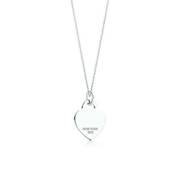 Heart Tag Necklace.Inspired By Design From 1969,This Celebrated Collection Bear An Inscription That Remind Unique Silver Jewelry