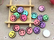 Free shipping New flatback resin kawaii Smiling face convex circle to send the hair bow center decoration phone DIY20pcs