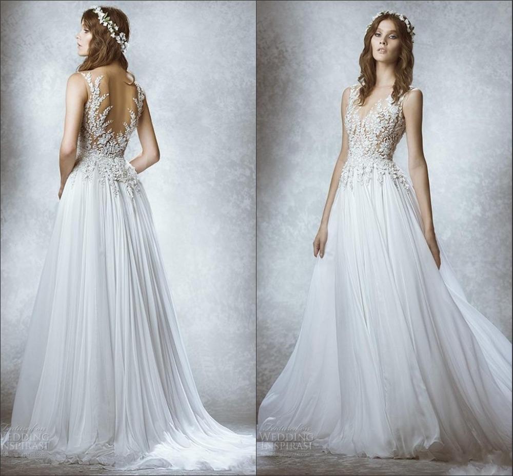 Vestido de noiva sexy chiffon beach wedding dress 2015 for Sexy corset wedding dress