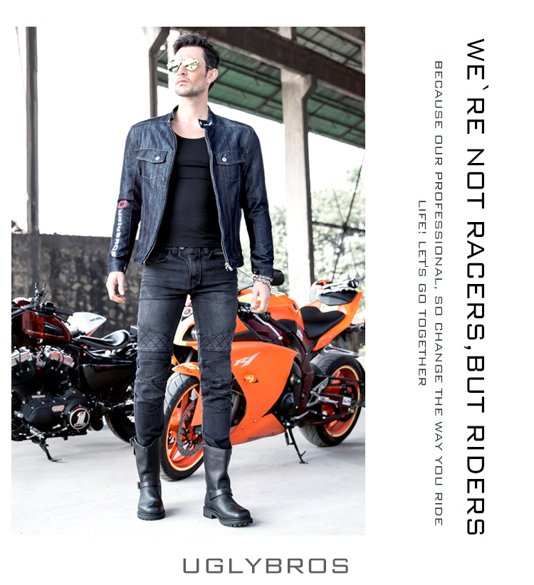2016 The newest uglyBROS UBS09 motor pants Motorcycle jeans Road riding jeans four sets of font