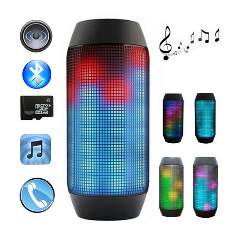 Pulse Portable Bluetooth Streaming Mini Speaker with Built-in LED Light Show &amp; Mic subwoofer<br><br>Aliexpress