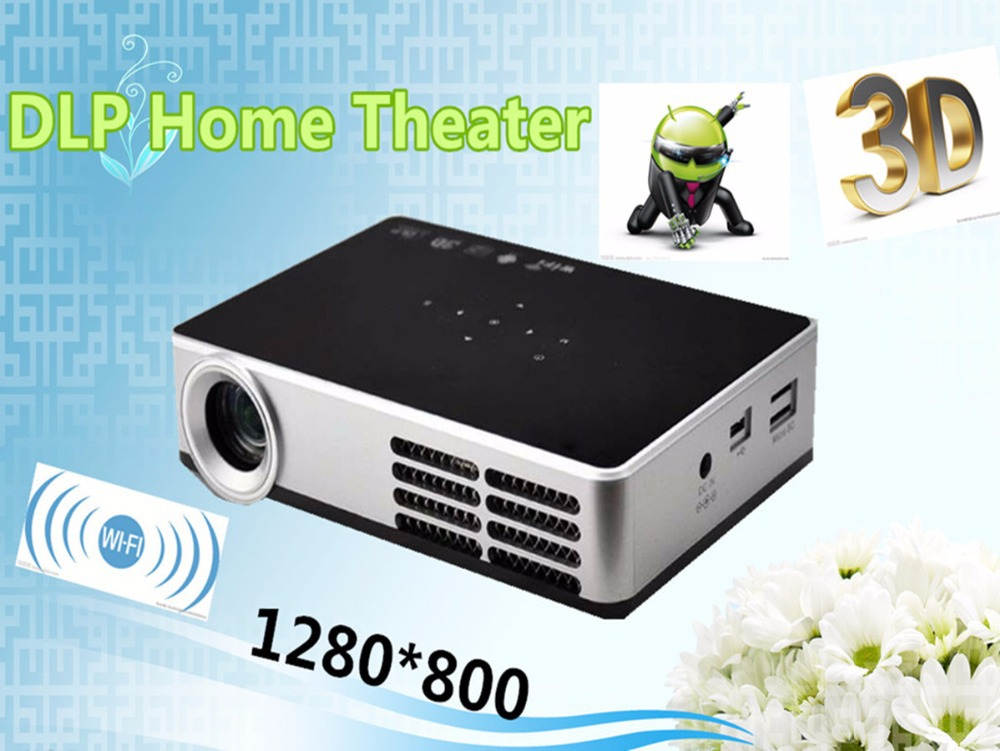 Newest 2015 LED DLP Mini Video projektor LCD 1080P 3D Home Theater Projector Full HD Proyector Beamer watch movies(China (Mainland))