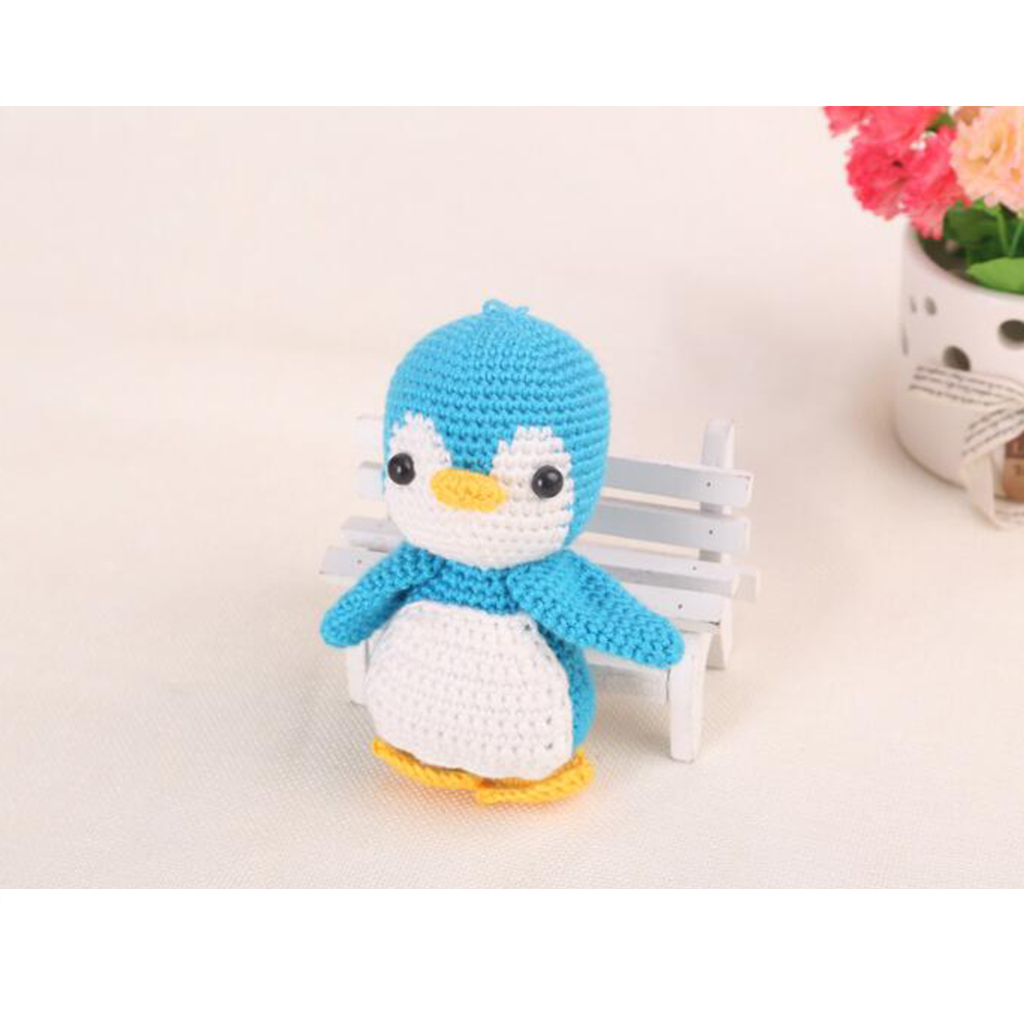 Penguin Doll Crochet Kit Amigurumi DIY Craft Project with Materials and Instruction