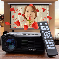 High Quality Uhappy U35 640*480 Resolution 16770k Color Portable LED Mini Projector For Office/Home Use