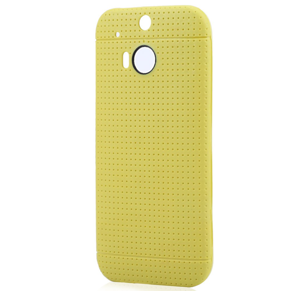 2016 New Ergonomic Design Five Colors Optional TPU Soft Honeycomb Style Phone Cover Dirt-Resistant Anti - Shock Case for HTC M8(China (Mainland))