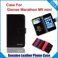 Hot! Gionee Marathon M5 mini Case, 7 Colors High Quality Genuine Leather Exclusive Case For Gionee Marathon M5 mini Real skin