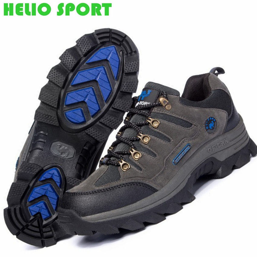 Outdoor hiking athletic shoes boots men trekking genuine leather casual outventure travel hunting shoes women boots size 36-47