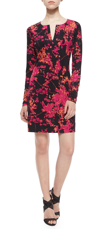 Floral Sheath Dress 3 4 Sleeve | Dress Wallpaper