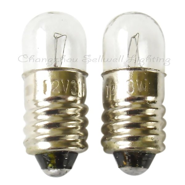 Free shipping 12v 3w e10 t8.5x24 NEW!miniature lighting lamps A361<br><br>Aliexpress