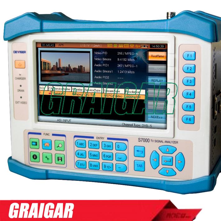 NEW NEW S7000 Analog Digital Satellite TV Analyzer DVB-C/T/H/T2/S/S2 CATV QAM Analysis Meter(China (Mainland))