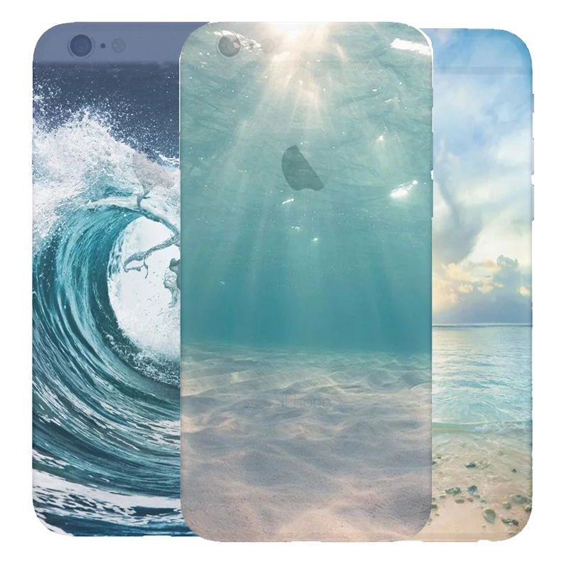 Landscape Scenery Tower Silicone Case For Apple Iphone 6 6s Cover Mountain Soft Transparent Tpu Scenery Pattern Cases(China (Mainland))