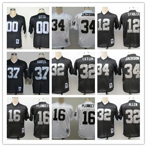 Stitiched,Oakland Raiders,Jim Otto,Kenny Stabler,Jim Plunkett,Jack Tatum,Marcus Allen,Bo Jackson,Ronnie Lott,Howie Long,T.Brown(China (Mainland))
