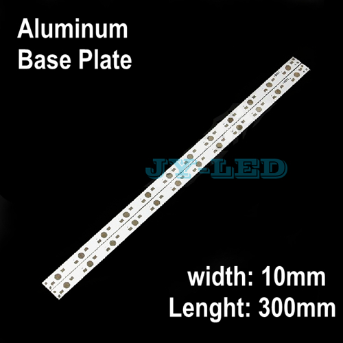 10pcs/lot 300mm*10mm 12w 36w Rectangle Aluminum Base Plate for LED lamp Support 12 Pieces Diodes to Soldering In The PCB Board<br><br>Aliexpress