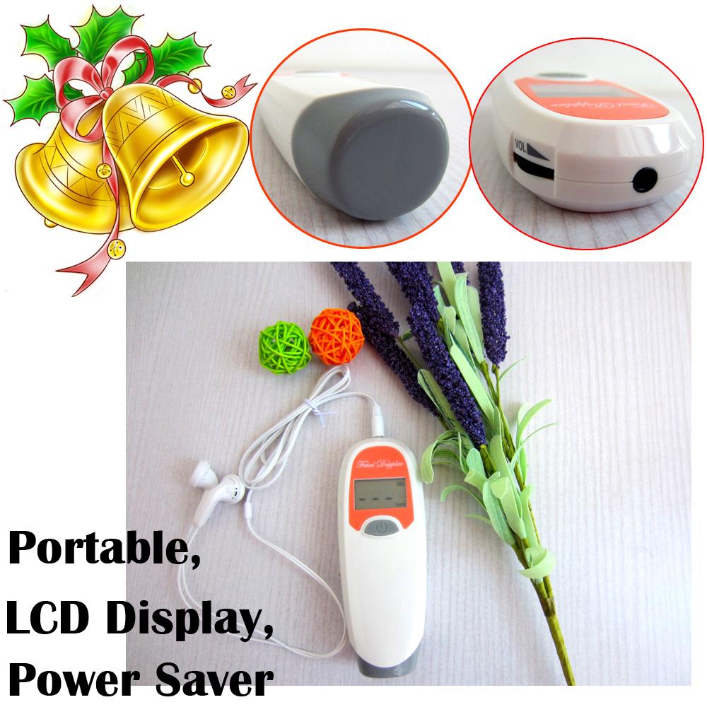 4 colors 2.0 MHz Integrated Design Pocket Fetal Doppler LCD Ultrasound Prenatal