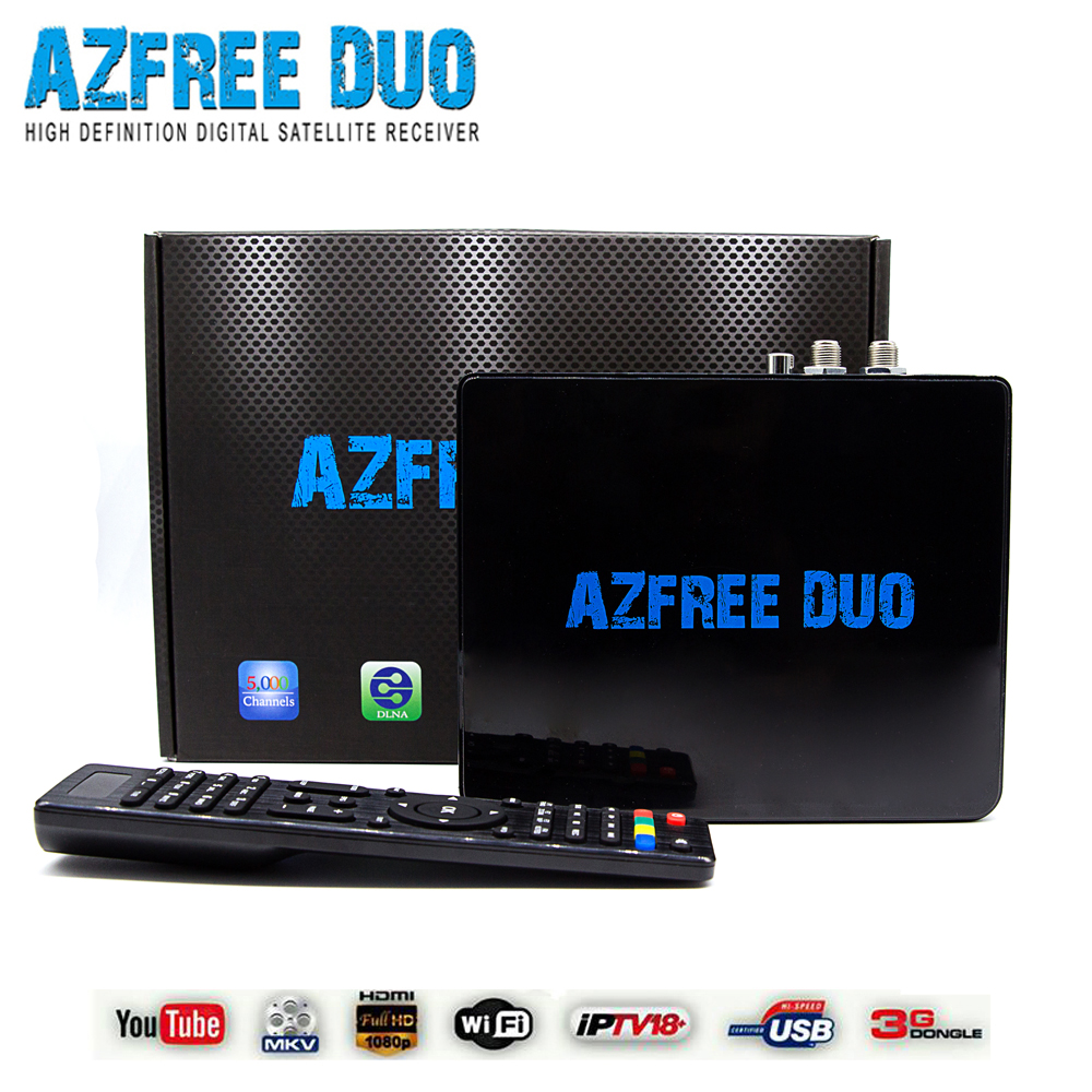 2016 Decoder satellite receiver azfree duo with iks sks free work for South America(China (Mainland))