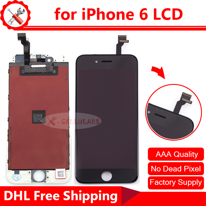 Wholesale Cheap Price High Quality LCD Display Touch Screen with Digitizer LCD for iPhone 6 LCD, Free Ship via DHL(China (Mainland))