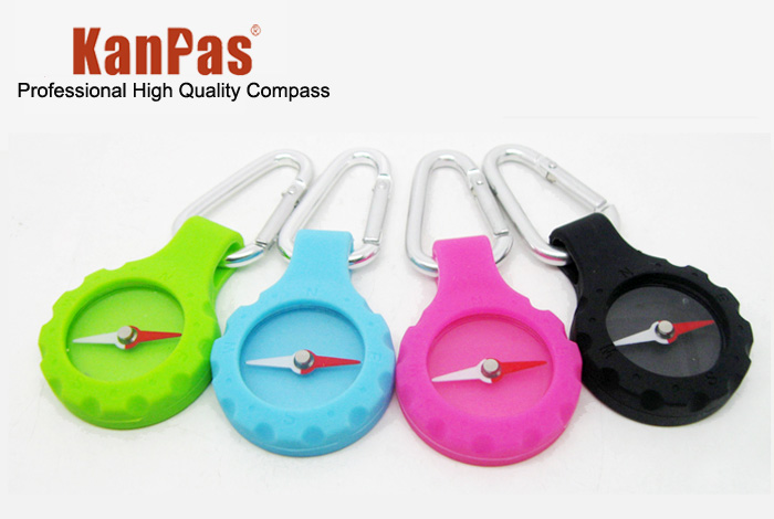 Outdoor camping , travel button candy color compass(China (Mainland))