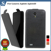 Factory price , Top quality new style flip PU leather case open up and down for Lenovo A3600 A3600D , gift