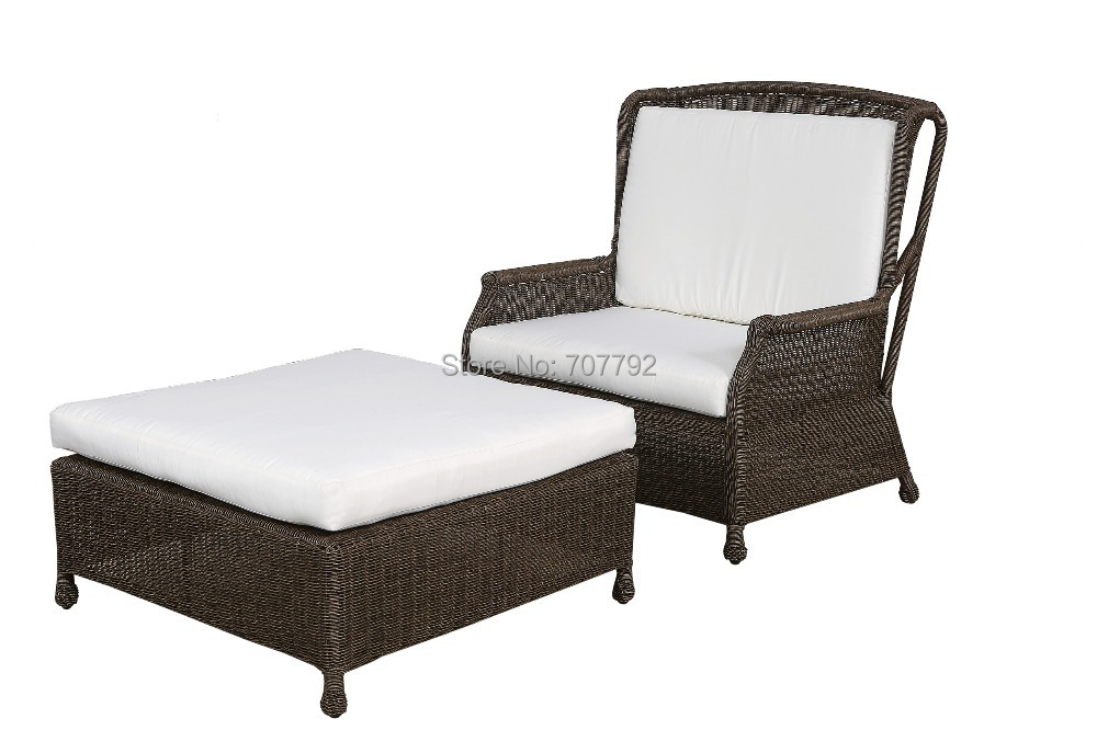Elegant design SGC-13007A outdoor rattan synthetic sun lounger double sofa bed(China (Mainland))