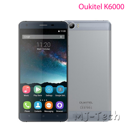Oukitel K6000 5.5 inch 1280x720 Android 5.1 OS 2G 16G ROM 8mp Camera MTK6735P Quad Core 6000mah Big battery Smart cellphone(China (Mainland))