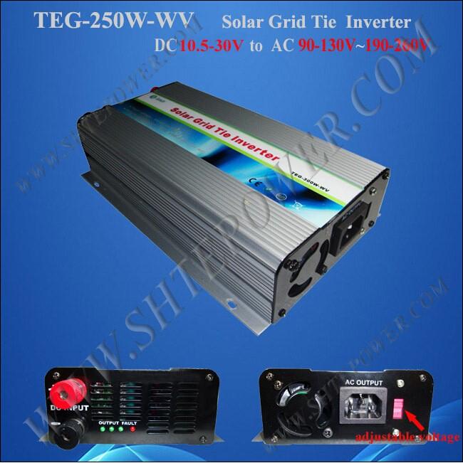 small solar grid tie inverter 250w ,dc 12v to ac 220v solar inverter ,250w pure sine inverter(China (Mainland))