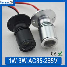 100x1 Вт 3 Вт черный или Серебристый алюминиевый Мини СВЕТОДИОДНЫЙ прожектор светильники счетчик витрины кабинета внимания Ювелирные Изделия магазин лампы AC85-265V(China (Mainland))
