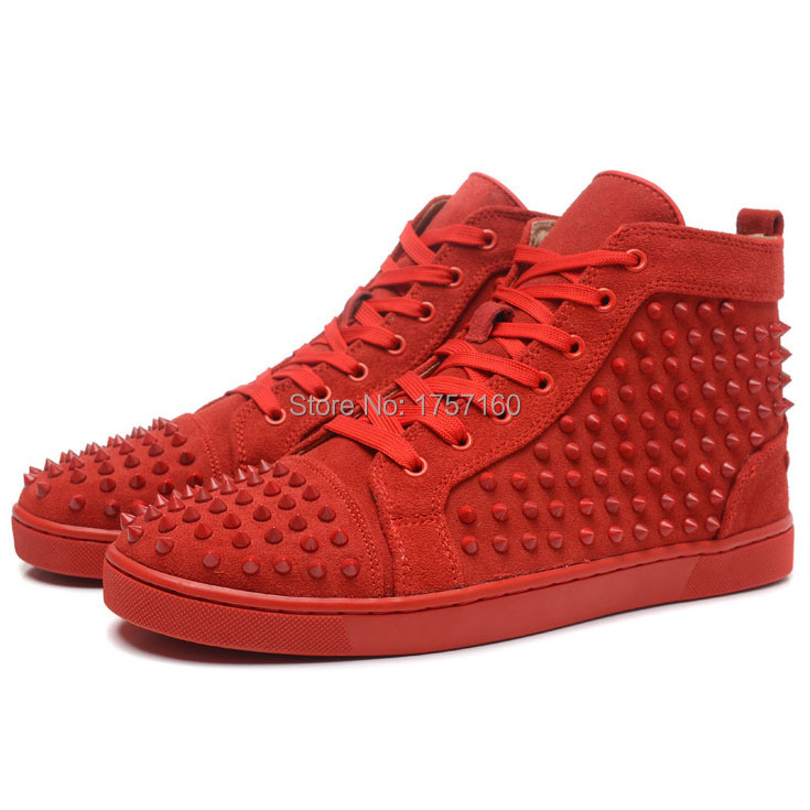 red bottom sneakers