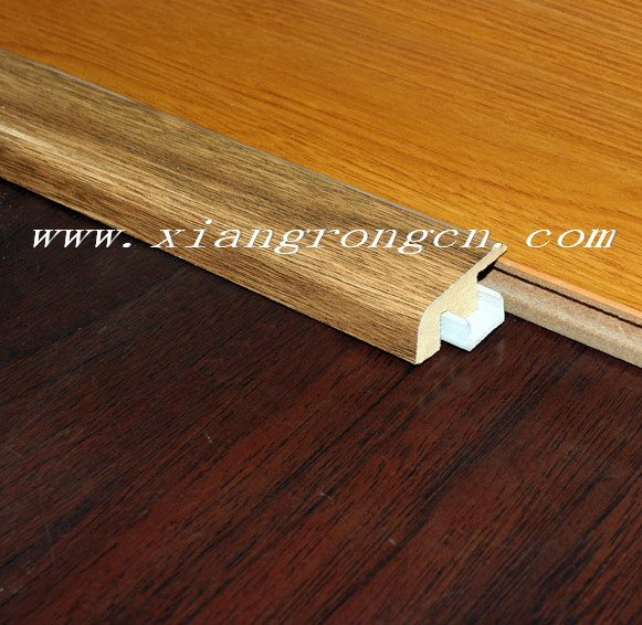 Laminate end molding carpet reducer in flooring